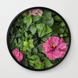 Hibiscus in Jalisco Wall Clock