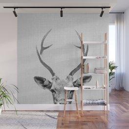 Deer - Black & White Wall Mural