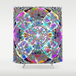 Kaleidoscope of The Four Directions Shower Curtain
