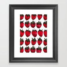 little strawberries Framed Art Print