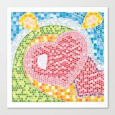 Love Mosaic Canvas Print