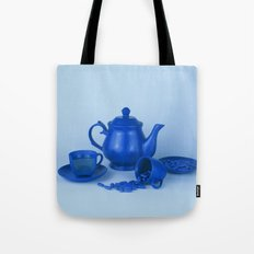 Blue tea party madness - still life Tote Bag