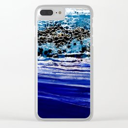 ...blurred line of horizons Clear iPhone Case