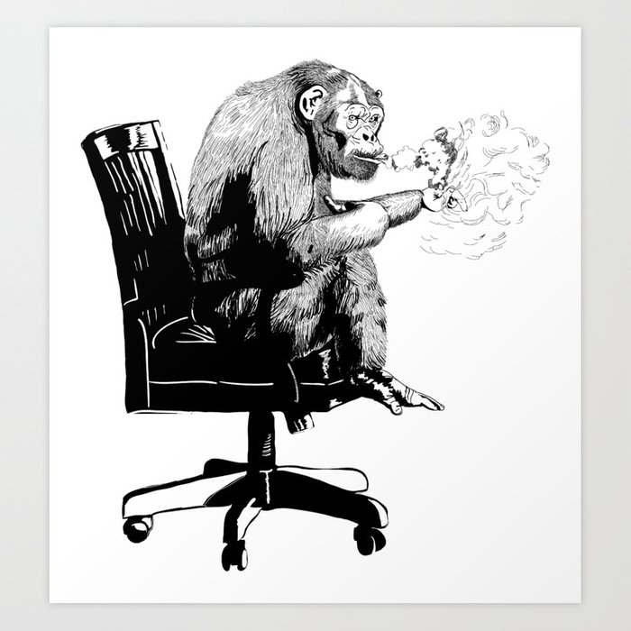 """On Mah Break"" Gorilla Art Print"
