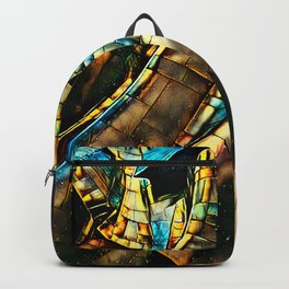 Golden Abstract 3 Backpack