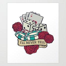 Casino Playing Art Print