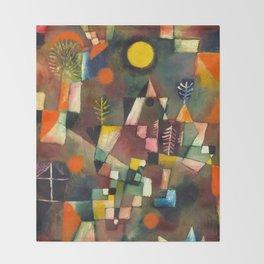 "Paul Klee ""Der Vollmond Hoch (The Full Moon)"" (1919) Throw Blanket"