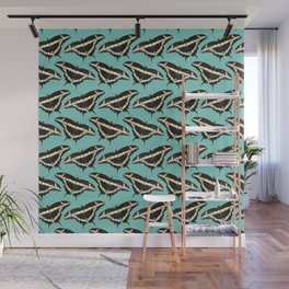 Butterfly Illustrated Pattern Print Wall Mural