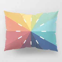 Modern Color Wheel Pillow Sham