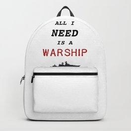 Warships of the World - All I Need is a Warship Backpack