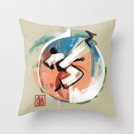 Capoeira 542 Throw Pillow
