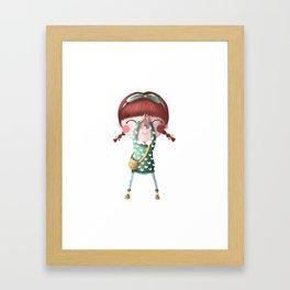 A de Tina Framed Art Print