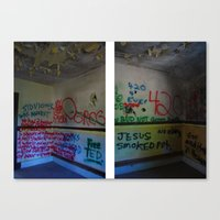 fear and loathing Canvas Prints featuring Fear and Loathing Quote by Super Manic Photography