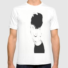 Pull Your Shirt Off Bitch! White X-LARGE Mens Fitted Tee