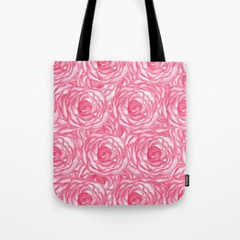 Girly Pink Hand Painted Watercolor Roses Tote Bag