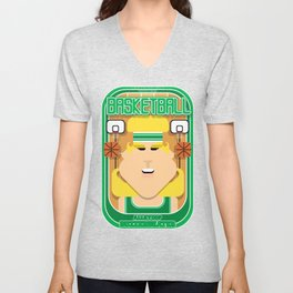 Basketball Green - Alleyoop Buzzerbeater - Hazel version Unisex V-Neck