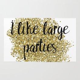 I like large parties - golden jazz Rug