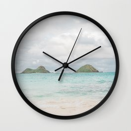 The Mokes at Lanikai Beach Wall Clock