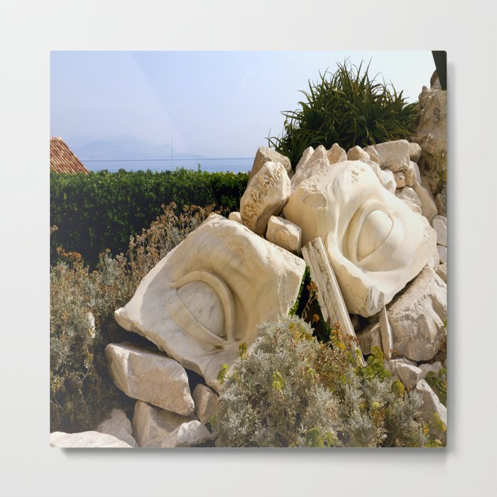 Shattered in Antibes Metal Print