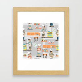 Young Chef Framed Art Print