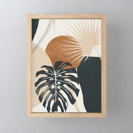 Abstract Art Tropical Leaves 7 Framed Mini Art Print