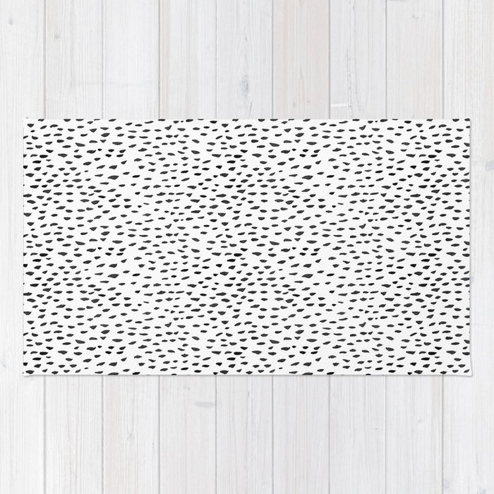 Black And White Spots Rug