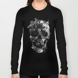 Kingdom Skull B&W Long Sleeve T-shirt