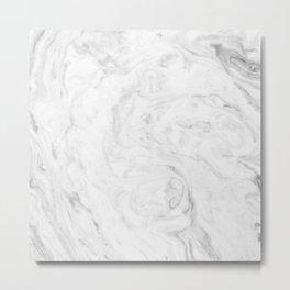 Light grey marble Metal Print