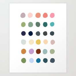 Casual Summer Colorful Polka Dots Art Print
