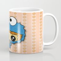 cookie monster Mugs featuring Cookie Monster Boy  by aldarwish