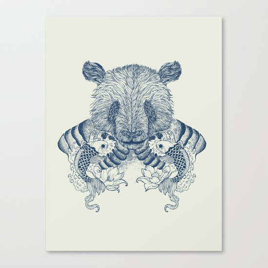 Panda Tattoo Canvas Print