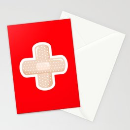 First Aid Plaster Stationery Cards