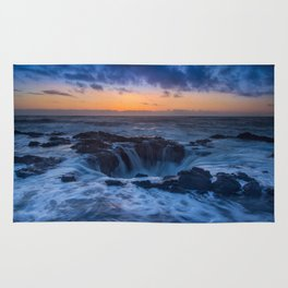 Thor's Well at Sunset Rug