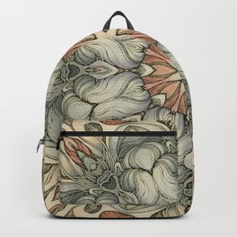 abstract flowers hand drawn and  kaleidoscope mandala Backpack