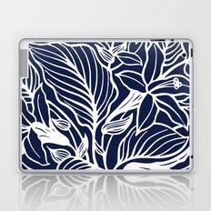 Indigo Navy Blue Floral Laptop & iPad Skin