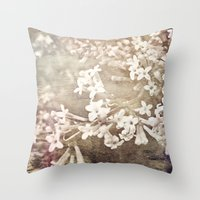 returns Throw Pillows featuring warmth returns by inourgardentoo