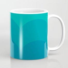 Waves, Turquoise Coffee Mug