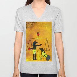 Ammit and Osirus Judge a Soul Unisex V-Neck