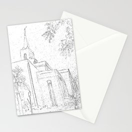 San Salvador El Salvador LDS Temple Sketch Stationery Cards