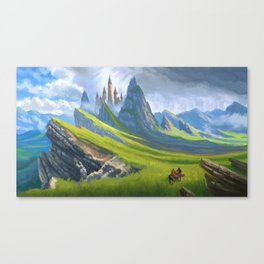 Broken Hills Canvas Print