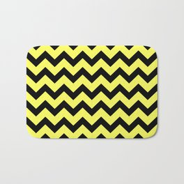 Chevron (Black & Yellow Pattern) Bath Mat
