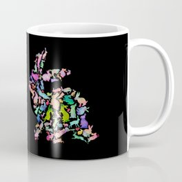 Kissing Watercolor Bunnies Coffee Mug