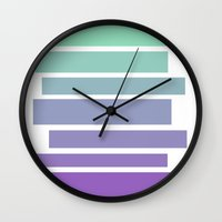 ombre Wall Clocks featuring Ombre by Miranda Williams