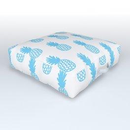 Light Blue Pineapple Outdoor Floor Cushion
