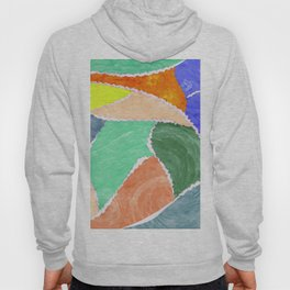 smeared patches Hoody