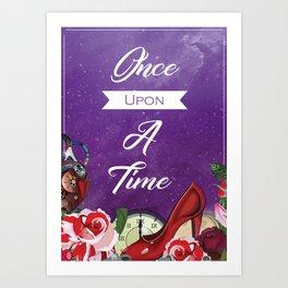 Cinder Cinderella themed art print - Lunar chronicles - once upon a time - bookish print - fairytale Art Print