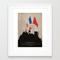 les mis Framed Art Prints featuring Les Misérables by Abbie Imagine