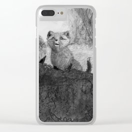 Fox Kits Sketch Clear iPhone Case