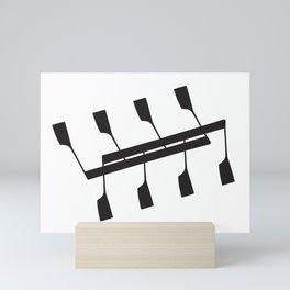 Rowing & Music notes 9 Mini Art Print