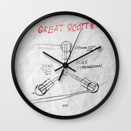 Great Scott, It's a Flux Capacitor - Back to The Future Wall Clock